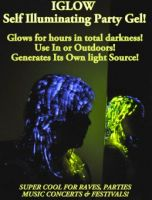 NEW iGlow Novelty GLOW IN THE DARK PARTY HAIR GEL Distributors required