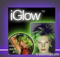iGlow Hair Gel for Party Concert Events.GLOWS in the DARK In/Outdoors