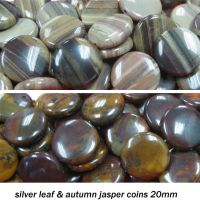 Sell silver leaf and autumn jasper coins 20mm