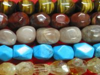 Sell nuggets tiger eye, poppy jasper, howlite turquoise , rutiled quartz