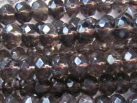 Sell smoky quartz rondelle beads