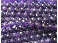 Sell amethyst faceted rondelle beads
