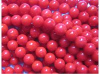 Sell dyed red coral beads