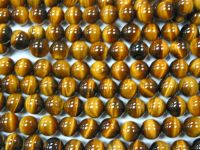 Sell semiprecious stone bead, tiger eye round beads