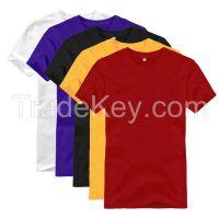New Mens T-Shirt Basic Plain Blank crew O neckline man Tees shirt