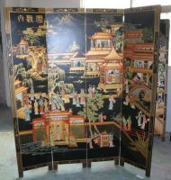 Sell   lacquer , oriental screen