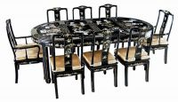 Sell lacquer , oriental  dining room furniture