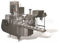 Filling and wrapping machine for semi round shape portion