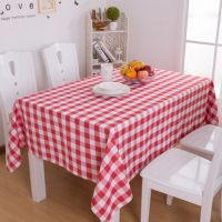 100% cotton polyester checked table cloth