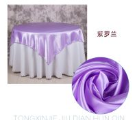 cheap purple satin table cloth overlay for banquet