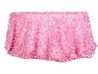 pink petal taffeta table cloth for wedding