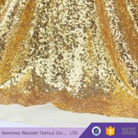 polyester gold sequin table cloth fabric