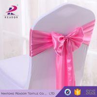 pink satin cheap chair sash