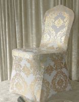 metallic damask spandex chair cover