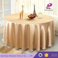 cheap gold satin table cloth for wedding