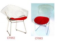 Diamond Arm Chair and wire side chair