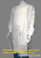 Sell Nonwoven Lab Coat With Stand Collar