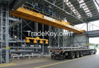 50 ton double girder steel melting plant crane