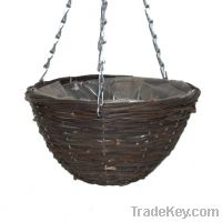 Sell black rattan hanging baskets