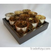 Sell glass candle cup with holder