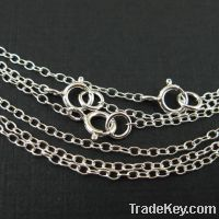 925 sterling silver cable chains, round cable chains, oval cable chain