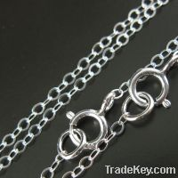 ss925 sterling silver hammered cable chains, link cable chains