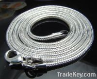 Sterling Silver 2mm Round Snake Chains
