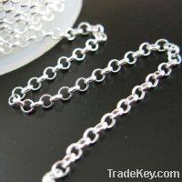 wholesaler for Stering Silver 925 Rolo Chains, italy silver rolo chain