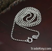 Sell sterling 925 silver bead chains 20''