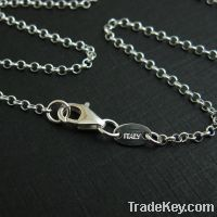 Sell 1.7mm Sterling silver rolo chains necklaces
