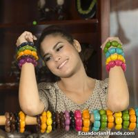 Pack of Bracelets - Tagua Jewelry Tropicolor - Line Mistica