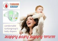 Larry barry high quality soft and dry Maxisize baby diaper made in Turkey