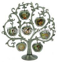 Metal family tree photo frame