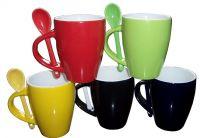 Sell Ceramic  Mug with Spoon, Coffee Mug(RF-520)