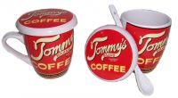 Sell Porcelain Mug with Spoon, Promotion Mug(RF-092)