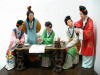 Clay figure zhang/ figurines/fork art/gifts