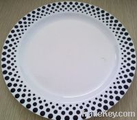 Disposable plastic plate dots design