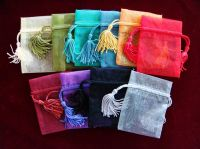 organza gift bag with tassel