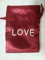 satin bag with printing logo
