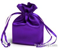 satin drawstring  bag