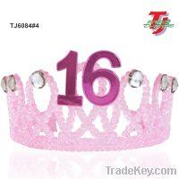 16 Princess Celebrate Candy Pink Rock Suger Tiara Crown