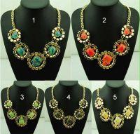 Sell 2014 Fashion Charm Choker Necklace Gemstone Necklace Geometric Necklace