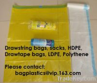 Sell Drawstring bags, Top sacks, Drawtape bags, top tie, kitchen bag