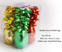 Sell Metallic Ribbon egg & Bows