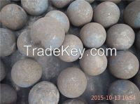 Forged grinding ball, dia40mm, 60MN and 75MNCR material