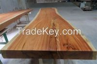 Acacia wood slab table