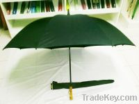 Sell Black Golf Umbrella with durable double 8K black metal ribs and b