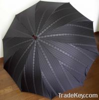Sell Men's Umbrella with Deluxe Fabric, Wooden Shaft and Handle