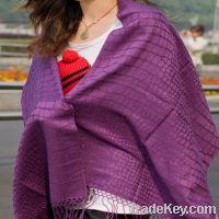 Sell fine wool tassels scarf pashmina 005