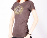Sell Ladies Summer 100% Cotton Short-sleeves Brown T-shirts B